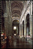 Inside of the Siena Cathedral (Duomo). Siena, Tuscany, Italy (color)