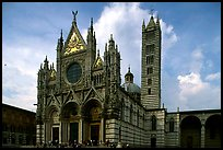 Renaissance style cathedral, afternoon. Siena, Tuscany, Italy (color)