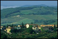 Countryside around the town. San Gimignano, Tuscany, Italy ( color)