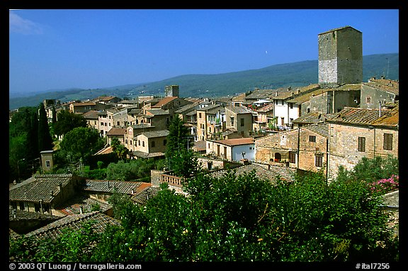 View of the town. San Gimignano, Tuscany, Italy