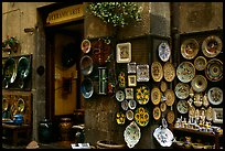 Ceramic plate store. Orvieto, Umbria (color)