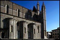 Side view of the Duomo. Orvieto, Umbria