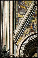 Facade detail of the fresco on Duomo. Orvieto, Umbria (color)