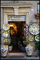 Doorway of the ceramic store. Orvieto, Umbria ( color)