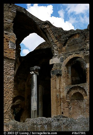 Ruins of the Baths, Villa Hadriana. Tivoli, Lazio, Italy (color)