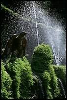 Fountains in the garden of Villa d'Este. Tivoli, Lazio, Italy ( color)