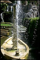 Boat shaped fountain, Villa d'Este. Tivoli, Lazio, Italy