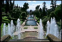 Fountains and pools in  Villa d'Este. Tivoli, Lazio, Italy ( color)