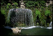 Elaborate fountain in the gardens of Villa d'Este. Tivoli, Lazio, Italy ( color)