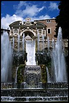 Largest fountain in the gardens of Villa d'Este. Tivoli, Lazio, Italy ( color)