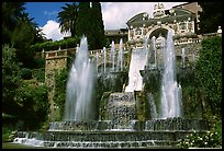 Large fountain, Villa d'Este gardens. Tivoli, Lazio, Italy (color)