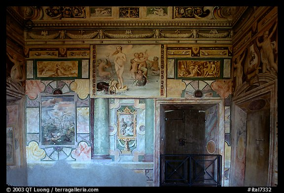 Mannerist frescoes in the Villa d'Este. Tivoli, Lazio, Italy (color)