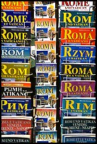Tourist guides about Rome in all languages. Rome, Lazio, Italy (color)