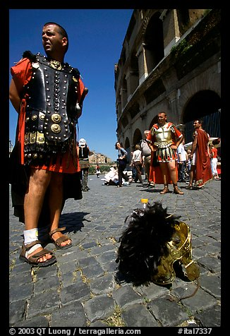 Wherever I rest my helmet, that's my home, Roman Forum. Rome, Lazio, Italy (color)