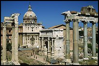 West end of the Roman Forum. Rome, Lazio, Italy (color)