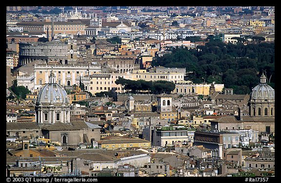 View of the city from Saint Peter's Dome. Rome, Lazio, Italy (color)