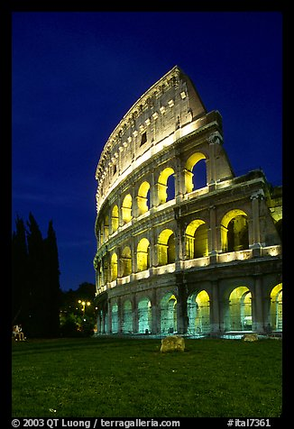Colosseum at night. Rome, Lazio, Italy