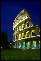 Colosseum at night. Rome, Lazio, Italy ( color)