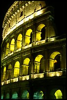 Colosseum illuminated night. Rome, Lazio, Italy ( color)