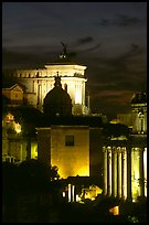 Roman Forum by night. Rome, Lazio, Italy (color)