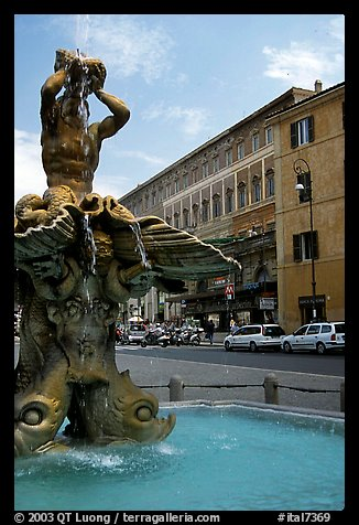 Tritone Fountain. Rome, Lazio, Italy (color)