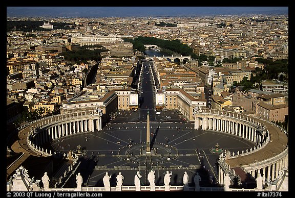 Piazza San Pietro seen from the Dome. Vatican City (color)