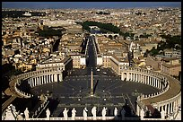 Piazza San Pietro seen from the Dome. Vatican City ( color)