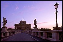 Ponte Sant'Angelo and Castel Sant'Angelo, dawn. Vatican City
