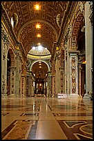 Inside  Basilica San Pietro. Vatican City (color)