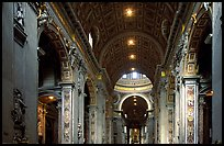 Interior of Basilica San Pietro. Vatican City