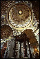 Baldachino, and Dome of Basilic Saint Peter. Vatican City ( color)