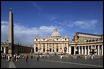 Place St Peter and Basilic Saint Peter. Vatican City