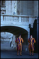 Members of Pontifical Swiss Guard. Vatican City