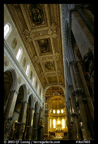 Nave of the Duomo. Naples, Campania, Italy (color)