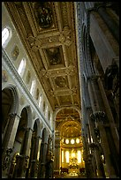 Nave of the Duomo. Naples, Campania, Italy