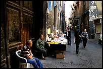 Via San Giogio dei Librai, one of the liveliest roads in Spaccanapoli. Naples, Campania, Italy