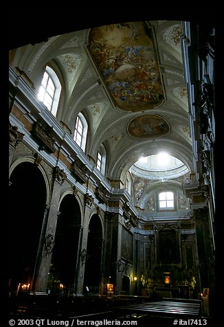 Church interior. Naples, Campania, Italy (color)