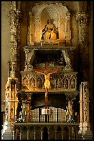 Altar inside a church. Naples, Campania, Italy