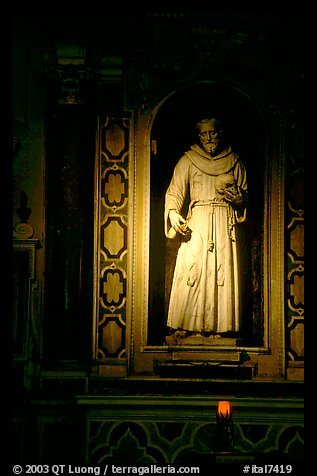 Statue of a saint. Naples, Campania, Italy (color)