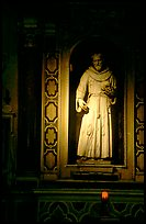 Statue of a saint. Naples, Campania, Italy ( color)