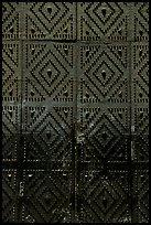 Detail of the door of church Gesu Nuovo. Naples, Campania, Italy