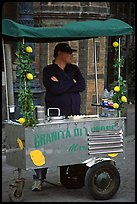 Lemonade vendor. Naples, Campania, Italy (color)