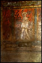 Fresco on the walls of Villa di Misteri (Villa of Mysteries). Pompeii, Campania, Italy ( color)