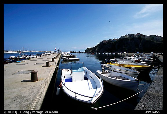 Harbor, Agropoli. Campania, Italy (color)