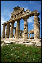 Ruins of Greek Temple of Ceres. Campania, Italy