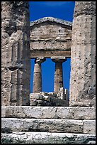 Ruins of Tempio di Cerere (Temple of Ceres). Campania, Italy