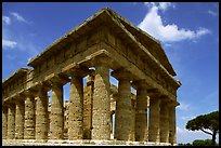 Tempio di Nettuno (Temple of Neptune), a Greek temple (5th century BC). Campania, Italy (color)