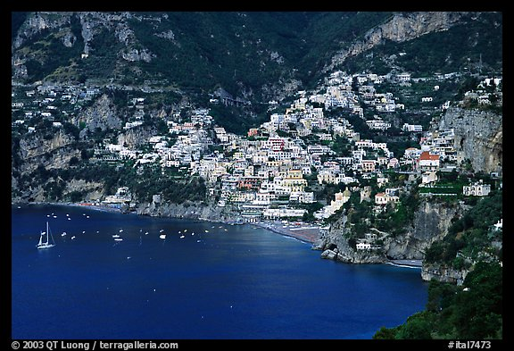 The picturesque coastal town of Positano. Amalfi Coast, Campania, Italy (color)