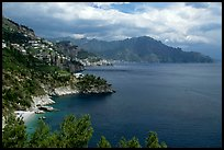 Steep coastline near Amalfi. Amalfi Coast, Campania, Italy