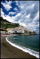 Beach in Amalfi. Amalfi Coast, Campania, Italy ( color)